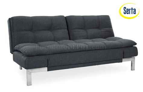 Umber Microfiber Modern Convertible Sofa Bed W Steel Legs Modern Convertible Sofa Bed
