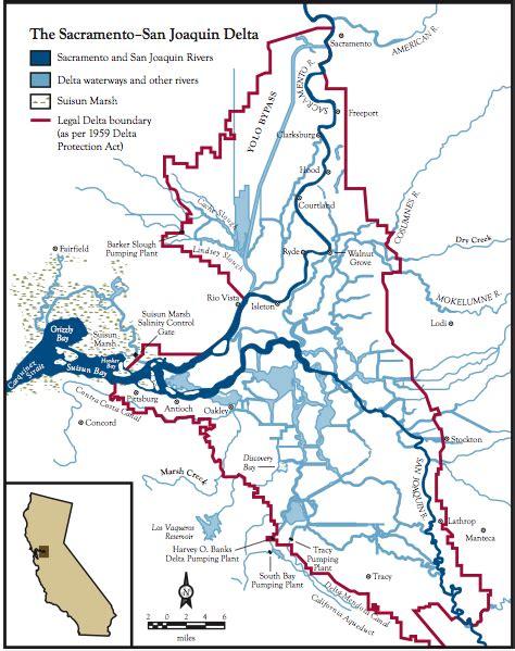 california map san joaquin river map of sacramento san joaquin delta califorina fish and