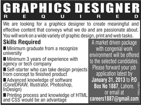 photoshop designing jobs in dubai graphics designer job in lahore in lahore jang on 23 jan