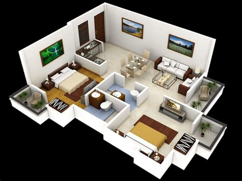 3d house design drawings 3 bedroom bird tree autocad home