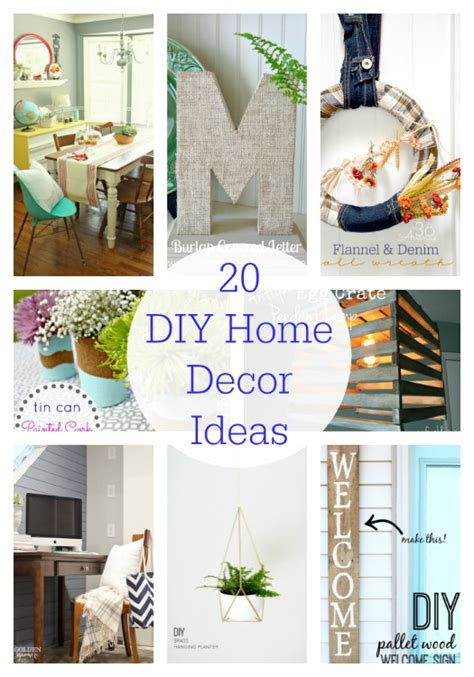 home decor diy projects 20 diy home decor ideas link party features i heart