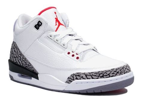 imagenes jordan retro 3 nike air jordan retro 3 white cement grey sneakers
