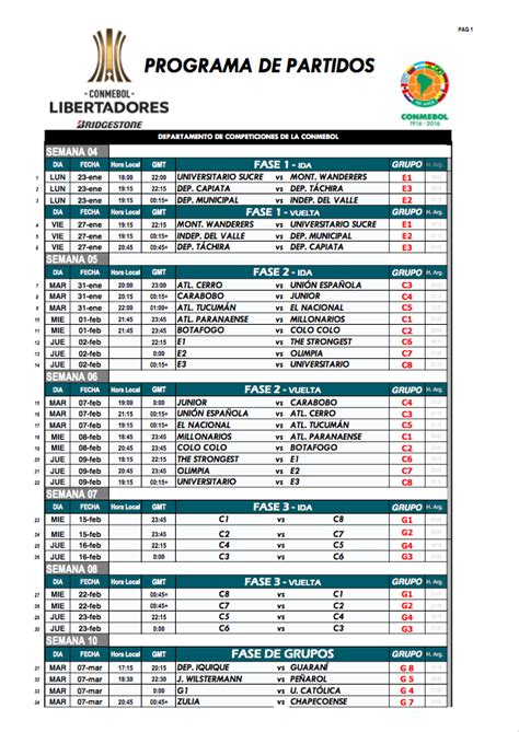 Calendã Libertadores 2017 Divulgado Calend 225 Da Libertadores De 2017 Palmeiras E