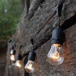 Commercial Patio String Lights Outdoor Patio String Lights 108 E26 Commercial Patio Light Stringer Spt2 Black Wire 24 Quot Spacing
