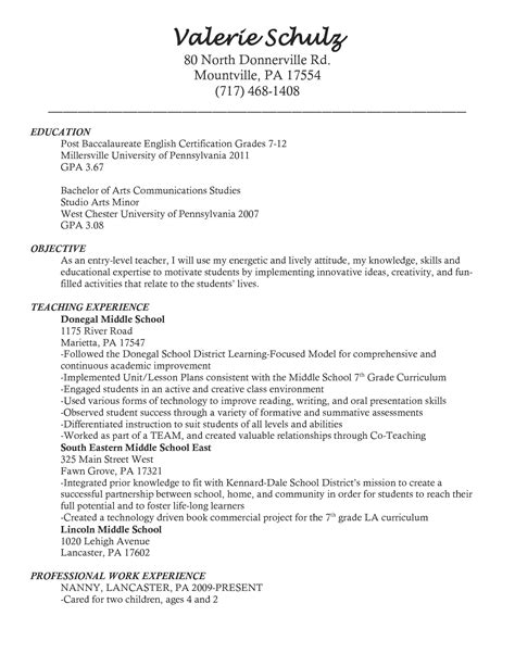 Sle Of Teachers Resume by Tutor Resume For Teachers Sales Lewesmr