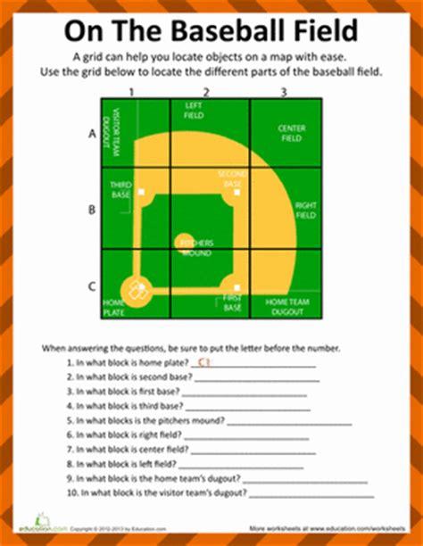 baseball field diagram | worksheet | education.com