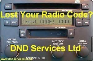 Volvo S40 Radio Code Volvo Radio Code Decode Unlock Codelocked Hu 605