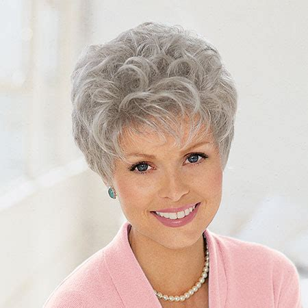 wigs for women over 70 with fine thin hair wigs for older women grey thinning hair picture short