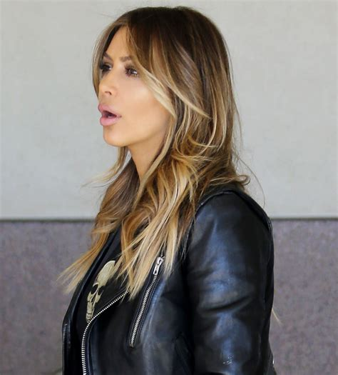 kim kardashian blonde balayage highlights photos kim kardashian balayage highlights