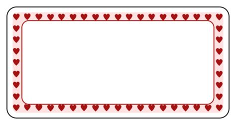 Valentine S Day Label Templates Download Valentine S Day Label Designs Label Border Templates
