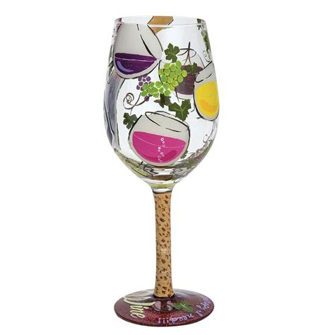 my as a therapy wine glass my therapy enesco gift shop