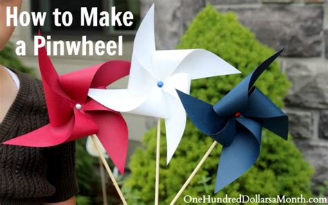 How To Make Simple Easy - easy crafts for how to make a pinwheel one