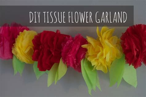 How To Make Paper Flower Garland - tissue paper crafts frugal family fair