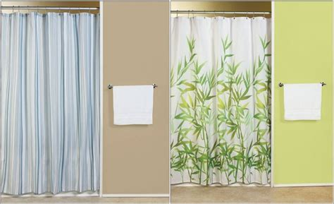 Green And White Patterned Curtains Inspiration Green And White Striped Shower Curtains Curtain Menzilperde Net