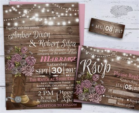 Western Wedding Invitation Paper by Country Wedding Invitations Western Wedding Invitations