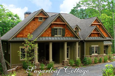 mountainside home plans rustic mountain style cottage house plan sugarloaf cottage