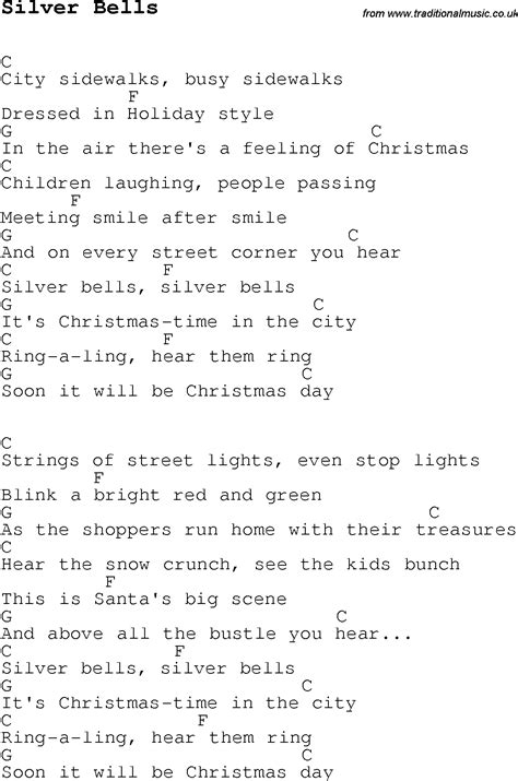 Christmas Songs and Carols, lyrics with chords for guitar