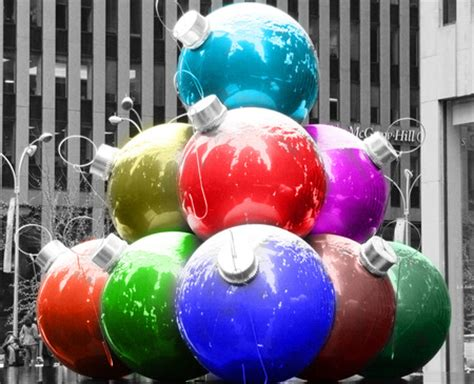 giant christmas ornaments decoration in nyc decorations rockefeller center new york