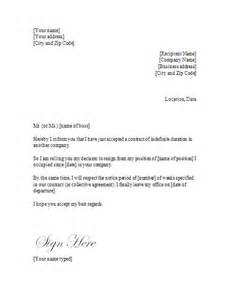 letter of resignation itc indefinite term contract resignation letter