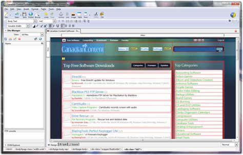 kompozer web design html editor freeware html editors