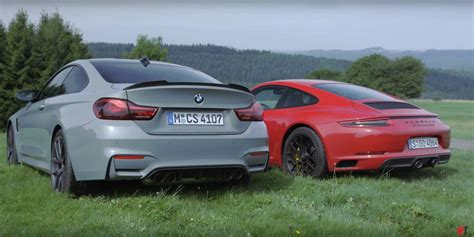 Bmw Vs Porsche by Bmw M4 Cs Vs Porsche 911 Gts