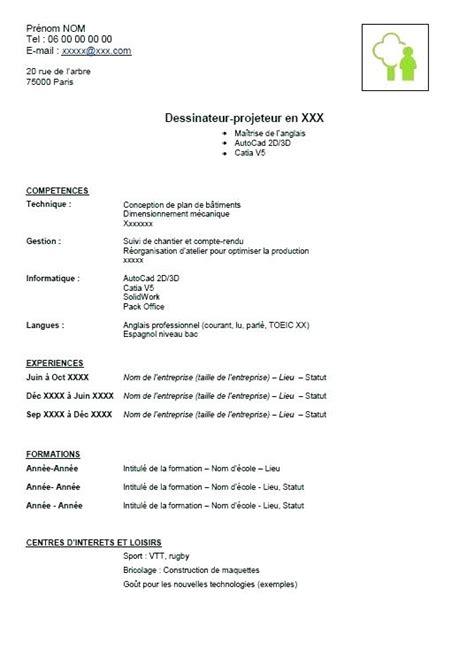 modele de cv gratuit en pdf best model modele de cv en