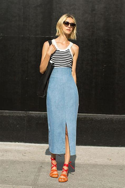 Dress Denim Yana Set 16 fresh ways to wear a denim skirt more