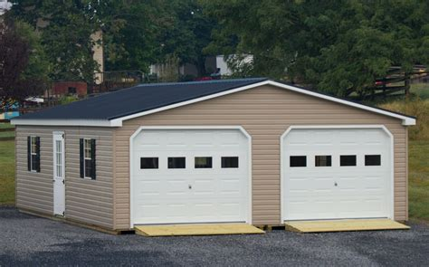 two car garages 24x30 vinyl modular 2 car garage byler barns