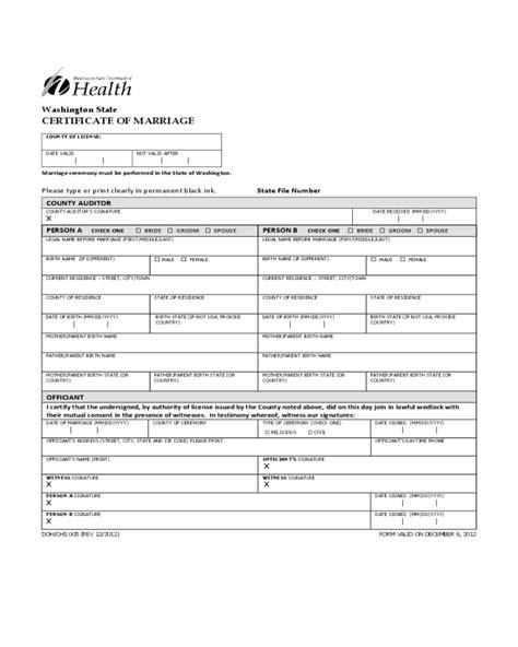Wsu Mba Certificate by Marriage Certificate Sle Pdf Choice Image Certificate