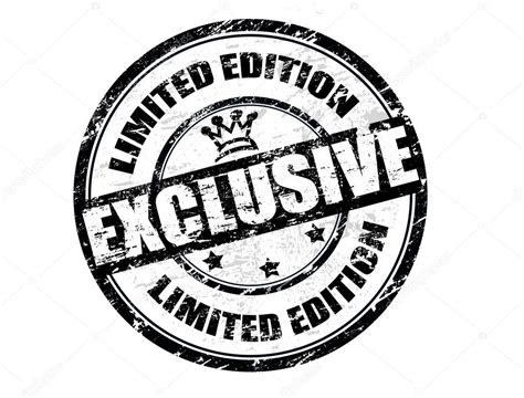 Exclusive Limited Editions At 20ltd by Exclusive Limited Edition St Stock Vector