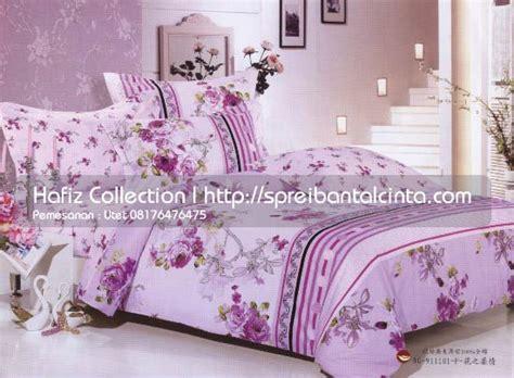 Set Bed Cover Katun Motif Bunga grosir sprei dan bedcover katun cina canon grosir
