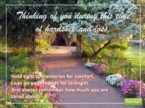 hardship and loss free sympathy condolences ecards