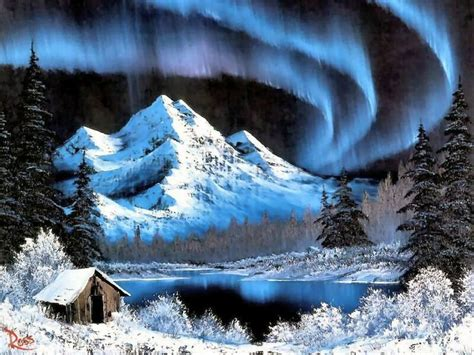 bob ross style paintings for sale northern lights bob ross charming winter