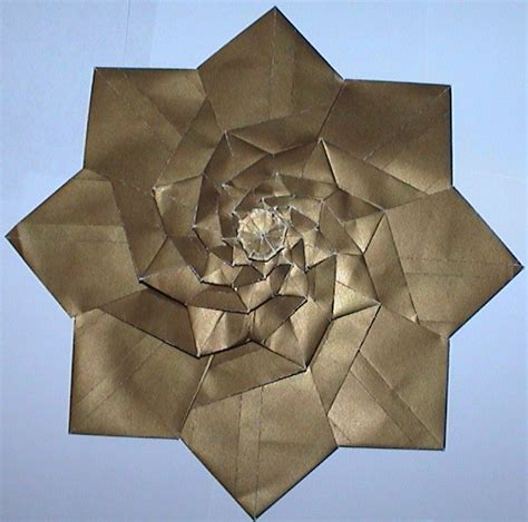 Origami Flower Tower - andy s tessellation page