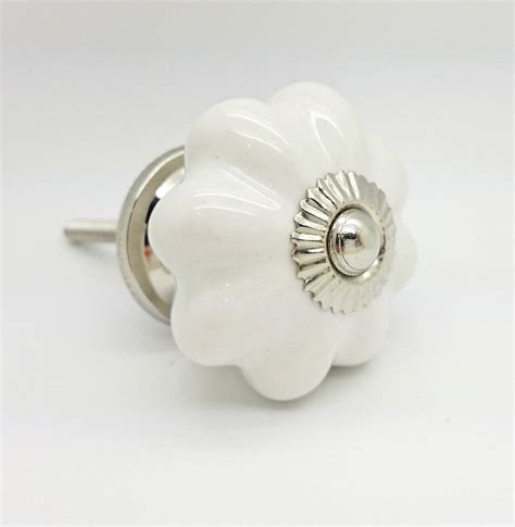 White Ceramic Knobs by White Ceramic Cupboard Door Knob Drawer Handle Pull By G