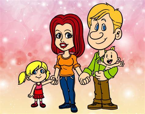 imagenes en movimiento de una familia dibujo de familia feliz pintado por lamorales en dibujos