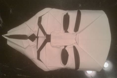 Origami Fawkes Mask - fawkes mask in origami