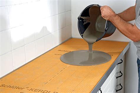 cucine in cemento piano cucina in cemento con schl 252 ter 174 kerdi board