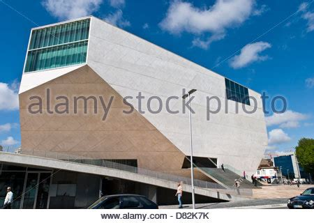 portuguese house music casa da musica of porto by dutch superstar architect rem koolhaas stock photo royalty