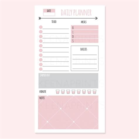 clean style daily planner vector template stock vector 490277593