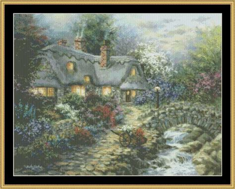 country cottage cross stitch country cottage cross stitch pattern crafting cross