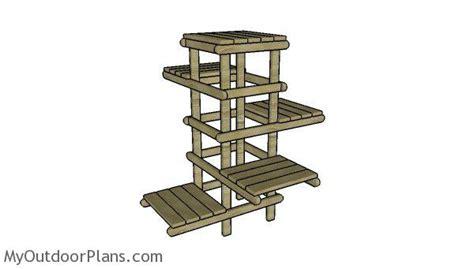 tree plant stand plans myoutdoorplans  woodworking