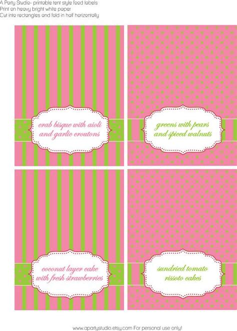 Label Segi 4 Motif Strawberry Pink 31 best images about buffet label on