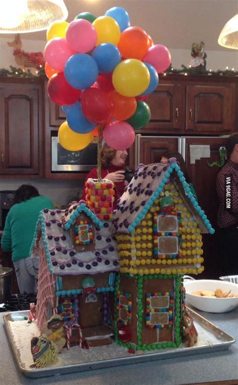 quot up quot themed gingerbread house christmas pinterest