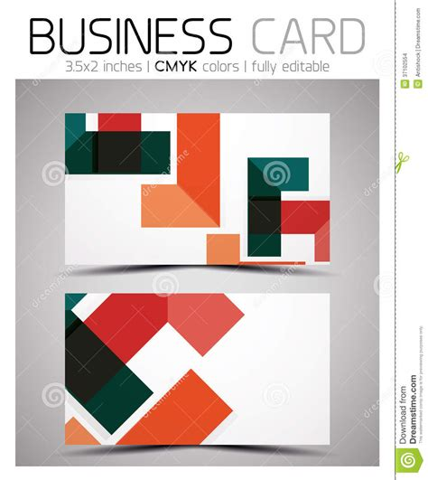 Geometric Patterns Card Template by Vector Cmyk Business Card Design Template Stock Images