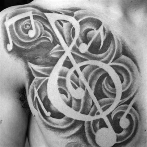 black and grey music tattoos 75 music note tattoos for men auditory ink design ideas