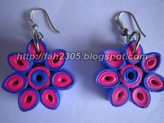 How To Make Paper Earrings Water Resistant - fah creations handmade paper quilling earrings flower