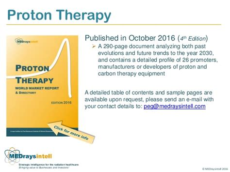 Proton Therapy Manufacturers by Proton Therapy Market Report And Directory 2016