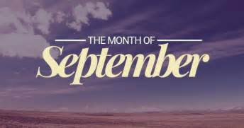 of the month september ninth month of the year