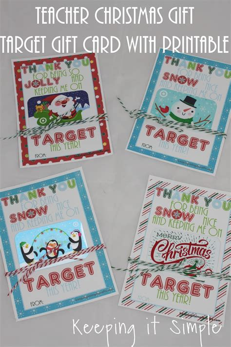 teacher christmas gift idea printable for target gift